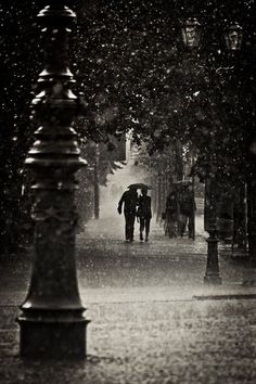 Walking in the rain...