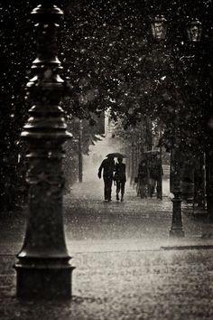 I adore the rain.  Kissing in the rain, dancing in the rain, playing in the rain....It never gets old.