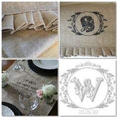 rustic tablecloth design