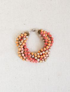 Snapdragon bracelet from 31Bits made from recycled paper and beads
