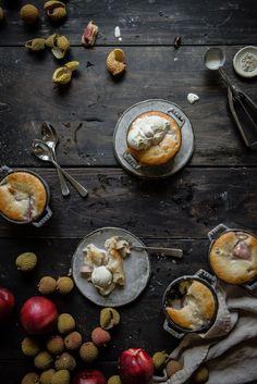 White nectarine & lychee cobbler