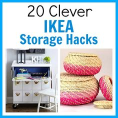 Want to use IKEA products to organize your home? You don't have to use them as-is! Instead, check out these 20 clever IKEA storage hacks for inspiration!