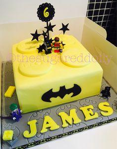 Batman Lego brick cake