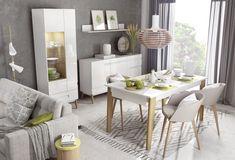 Minimalistyczna i nowoczesna kolekcja mebli MODENA w wersji do jadalni / Minimalistic, modern furniture collection MODENA in the dining room version #modena #furniture #meble #jadalnia #diningroom #interiordesign #design #wnetrza  #dignet #dignetlenart #whiteinterior #whitefurniture #bialemeble #lenartdesign #whitetable #table #bialystol #stol #witryna #novelty #newarrival #nowosc