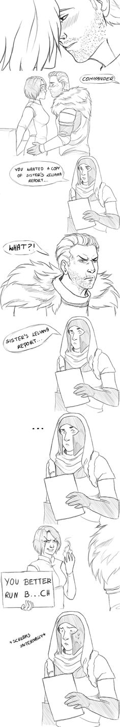 If Cullen weren\'t the one to scare that poor, ill-timed scout away... (Cullen/Inquisitor)