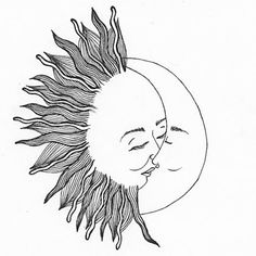 moon simple sun drawings drawing tattoo painting mandala quotes easy indie poems stars sketches 8tracks comic couple story