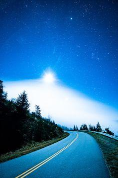 Midnight Drive on the Blue Ridge Parkway (by Jon Beard)