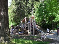 Seward Park, Seattle......Nature park with walking trails and a playground with our favorite nature center.  They host many bird tagging events, night time owl walks, and family learning for kids.  Most free or low cost