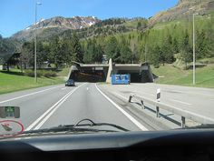 St Gotthard tunnel, south approach Went through on a tour bus, a car got in the tunnel going the wrong way, 17 km, no way out! The bus driver pressed the bus against the side of the tunnel the car passed, barely we heard the crash somewhere behind us!