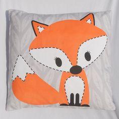 Curious Fox Pillow - Cutest Pillow for a Woodland Nursery