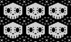 Sombra Overwatch knitting pattern.  Columns: 35 Rows: 46 Edit pattern or get directions on KnitPx