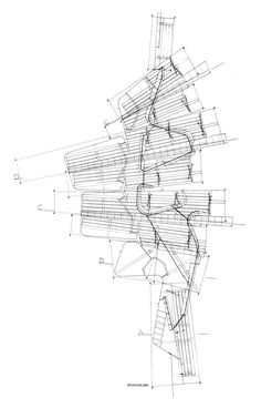 Olympic Archery Barcelona plan, 1989 by Carme Pinos and Enric Miralles. One of my favorite plans of all time.