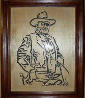 Image result for John Wayne Scroll Saw Portrait Pattern