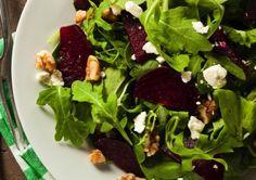 Enjoy the fresh flavor of a simple homemade salad dressing atop this seasonal salad.