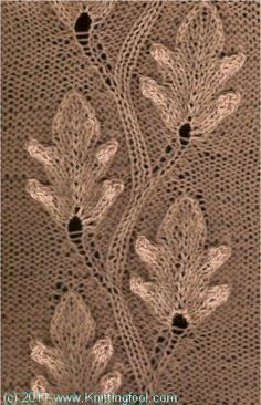 Oak Leaves 2 free pattern #knit