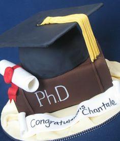 Blissfully Sweet: A Graduation Cake fit for a PhD Phd Graduation, Graduation Open Houses, Graduation Celebration, Graduation Photos, Fondant Cakes, Cupcake Cakes, Cupcakes, Doctoral Regalia, Graduation Cake Designs