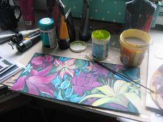 Paintin' wild flowers...