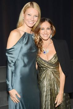 APRIL 18 - Gwyneth Paltrow and Sarah Jessica Parker at the Tiffany & Co. event.