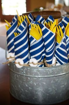 Nautical themed party.