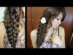 Mermaild tail braid hairstyle. So cute!