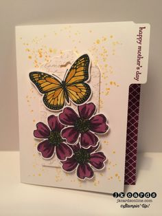 Stampin' Up!, Paper Players 194, Flower Shop, Gorgeous Grunge, Best of Butterflies, Teeny Tiny Wishes, Very Vintage Wheel, Brights Stack DSP, File Tabs Edgelits*, Scalloped Tag Topper Punch, Pansy Punch