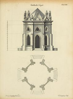 Design for a Gothic temple