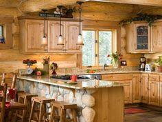 future cabin someday- Photos of a Winter Cabin in Montana   A Long-Distance Affair   Centennial Log Homes p39 - LogHome.com
