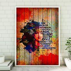 Office Canvas Art, Office Wall Art, Queen Poster, Graduation Presents, Buy Canvas, Girl Posters, Afro Girl, Magic Art, Inspirational Wall Art