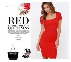 """Red"" by aminahadzic5 ❤ liked on Polyvore featuring Lulu*s and Boohoo"