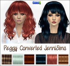 My Sims 4 Blog: Peggy Hair Conversions by JenniSims