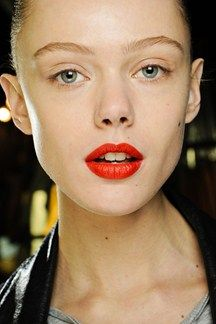 RED LIPS - Across the board at the London and New York shows in particular, bold red lipstick was they key component of the beauty looks at Rick Owens, Jonathan Saunders, Marc by Marc Jacobs, Zac Posen and many more. Wear alone or with minimal other make-up for maximum impact.