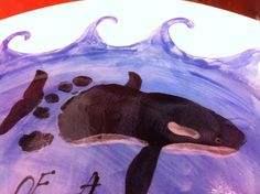 Whale Footprint craft for kids #Ocean art project