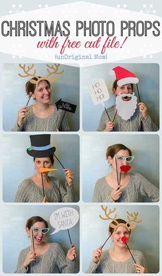 Photo Booth Props with Free Cut File Christmas Photo Booth Props with Free Cut File and a GIVEAWAY!Christmas Party Christmas Party or Xmas Party or variant may refer to: Noel Christmas, Family Christmas, Christmas Tress, Christmas Cards, Scandi Christmas, Father Christmas, Christmas Christmas, Christmas Wedding, Holiday Parties