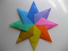 Origami star- front