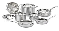 Amazon.com: Cuisinart MCP-12N MultiClad Pro Stainless Steel 12-Piece Cookware Set: Pots And Pans: Home & Kitchen