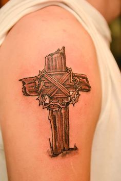 Wooden Cross Tattoo Inspir Tattoos Anese Sleeve