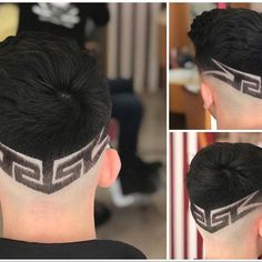 Men's Hair, Haircuts, Fade Haircuts, short, medium, long, buzzed, side part, long top, short sides, hair style, hairstyle, haircut, hair color, slick back, men's hair trends, disconnected, undercut, pompadour, quaff, shaved, hard part, high and tight, Mohawk, trends, nape shaved, hair art, comb over, faux hawk, high fade, retro, vintage, skull fade, spiky, slick, crew cut, zero fade, pomp, ivy league, bald fade, razor, spike, barber, bowl cut, 2018, hair trend 2017, men, women, girl, boy Trendy Mens Hairstyles, Baddie Hairstyles, Undercut Hairstyles, Haircuts For Men, Undercut Pompadour, Haircut Designs, Undercut Designs, Shaved Hair Designs, Men Hair Color