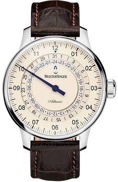 MeisterSinger Watch Adhaesio #bezel-fixed #bracelet-strap-leather…