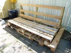 My boyfriends pallet sofa - of own design  - Part 4
