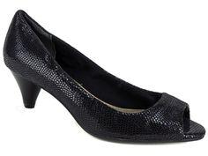 Giani Bernini Women's Soria Open-Toe Pumps Black Snake Print Size 6 M #GianiBernini #OpenToe #Dress