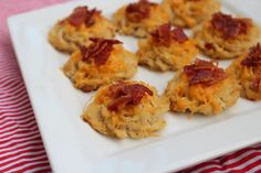 Cauliflower Cheddar Bacon Bites Shared on https://www.facebook.com/LowCarbZen   #LowCarb #Snacks #Appetizers