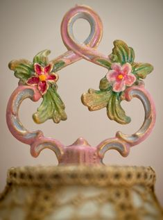 Finial of victorian lampshade