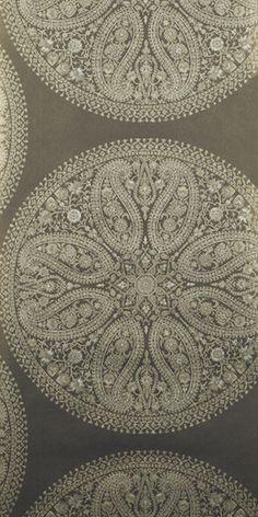 Paisley Circles wallpaper Charcoal Sanderson - Caverley collection