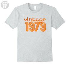 Mens Vintage 1979 T-Shirt Retro 70's Birthday Tee Large Heather Grey - Birthday shirts (*Amazon Partner-Link)