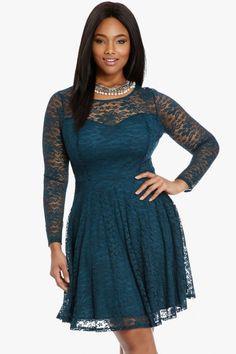 Plus Size Nicolette Lace Flare Dress | Fashion To Figure