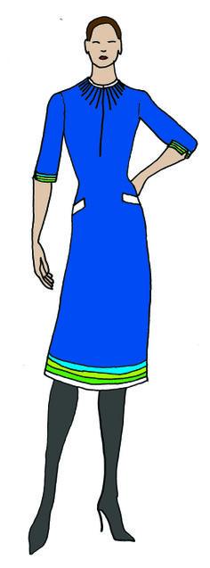 Uniform design in Transavia Colours, no belt - pillar figures