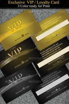 Exclusive and Stylish VIP-Loyalty Cards - Loyalty Cards Cards & Invites https://graphicriver.net/item/exclusive-and-stylish-viployalty-cards/46256?ref=231267