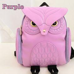 Owl Cute Fashion Women Backpack For Teenage Girls Designer Famous Brand Bag  Kawaii Backpack High Quality School Bag Mochila 2015 Backpack With Wheels  Dakine ... 317e9b47ae