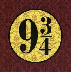 Nine & Three-quarters: Harry Potter fabric print by FandomFabric