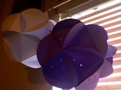 paper lanterns diy :  wedding diy light paper lanterns purple white Photo 244
